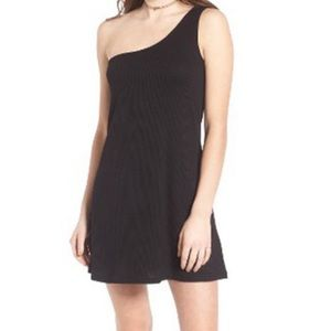Love, Fire one Shoulder little black dress